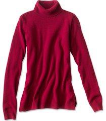 classic cashmere turtleneck sweater, garnet, x large