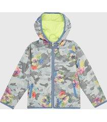 chaqueta gris-multicolor boboli