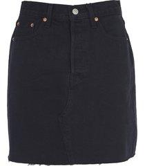 levis black frayed skirt
