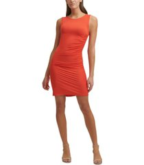 tommy hilfiger ruched bodycon dress