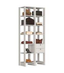 estante closet nova mobile ey104 yes 2 gavetas e 11 prateleiras