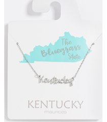 maurices womens dainty kentucky necklace gray