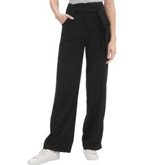 pantalon wide leg lino blend negro gap
