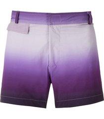 amir slama tie dye tactel swim shorts - purple