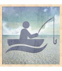 beach signs fishing by lightboxjournal framed art