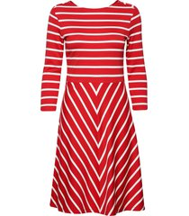 d1. striped dress jurk knielengte rood gant