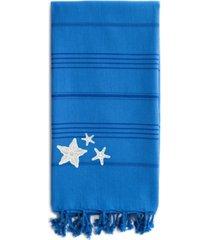 linum home summer fun glittery starfish pestemal beach towel bedding
