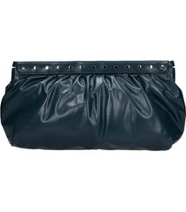 isabel marant luz clutch in green leather