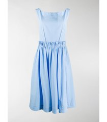 marni back buttons poplin dress