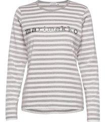 logo mari shirt t-shirts & tops long-sleeved grijs marimekko