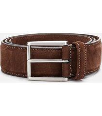 anderson's men's matt silver suede belt - brown - w36/xl