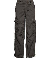 cargo loose byxa med raka ben svart please jeans