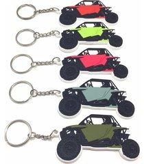 polaris rzr xp 1000 900 custom rubber keyring key chain