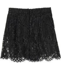 dolce & gabbana laminated lace shorts