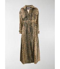 jacquemus leopard print trench coat