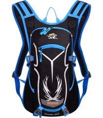 uomo donna nylon impermeabile ciclismo escursionismo acqua interna borsa spallaccio spalle borsa