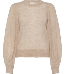 janna knit o-neck gebreide trui beige second female