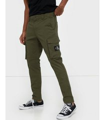 calvin klein jeans skinny washed cargo pant byxor grön