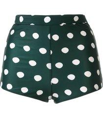 peony high-rise bikini bottoms - green