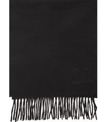 max mara wsdalia scarf in black cashmere