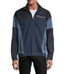 champion men's full-zip denim jacket - dungaree blue - size xxl