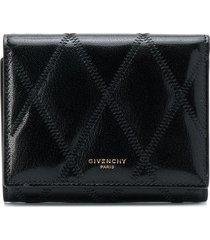 givenchy diamond trifold wallet - black