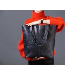 carmen - duża torba skórzana - antracyt