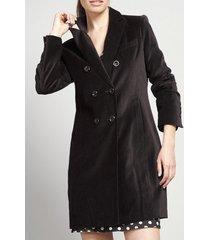 abrigo terciopelo algodón negro rebelde liola