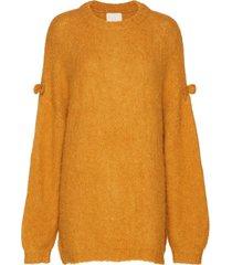 hairy knit jumper gebreide trui geel by ti mo