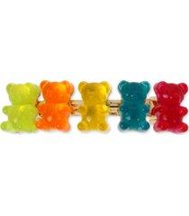 betsey johnson gold-tone multicolor gummy bear hair clip