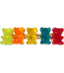 betsey johnson gold-tone multicolor gummy bear hair clip
