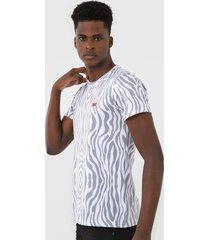 camiseta rock&soda estampada branca - branco - masculino - poliã©ster - dafiti