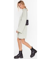 womens my soft side turtleneck mini dress - sage