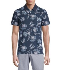 original penguin men's palm tree-print cotton polo - dark sapphire - size xxl