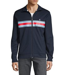 striped logo track jacket