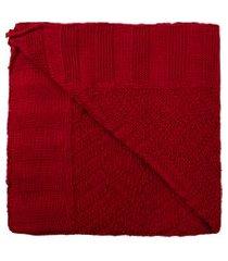 manta tricot empório - vermelho