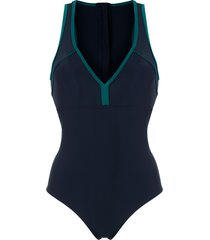 track & field mesh tf power swimsuit - blue