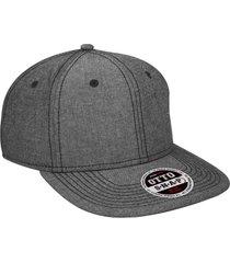 "otto cotton blend chambray square flat visor ""otto snap"" six panel pro style sna"