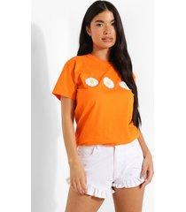 petite bloemenprint t-shirt, apricot
