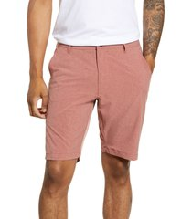 men's 7 diamonds aeroplane slim fit hybrid shorts, size 36 - red