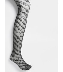 river island womens black ri logo sheer tights