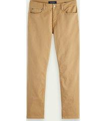 scotch & soda dean tapered fit jeans – summer garment dye
