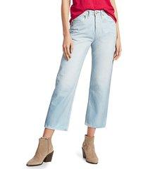 rag & bone women's maya high-rise ankle straight jeans - raven foil - size 26 (2-4)
