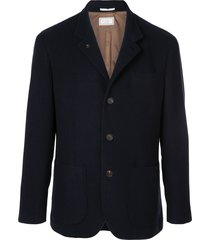 brunello cucinelli cashmere rain jacket - blue