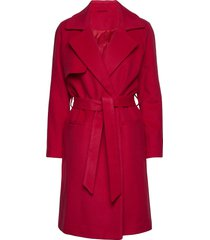 2nd livia wollen jas lange jas rood 2ndday