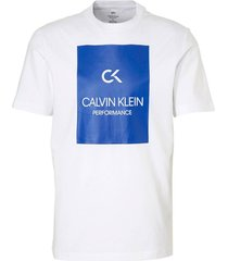 calvin klein heren t-shirt - billboard wit/blauw
