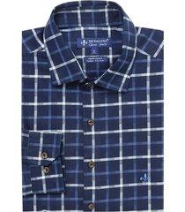camisa dudalina manga longa denim fio tinto xadrez masculina (xadrez, 6)