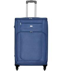 maleta de viaje mediana en lona con cuatro ruedas giratorias 93077
