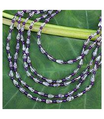 amethyst strand necklace, 'romantic lavender' (thailand)