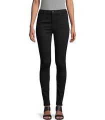 j brand women's maria high-rise skinny jeans - dark sonnet - size 24 (00)